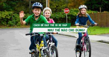 Dạy con kĩ năng tham gia giao thông khi đi xe đạp